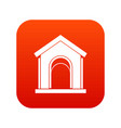 toy house icon digital red vector image vector image
