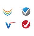 v letter logo business template vector image vector image