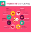 Valentines Day Concept Infographics vector image vector image