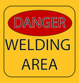 warning about danger vector image vector image