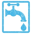 Water Tap Icon Rubber Stamp vector image vector image