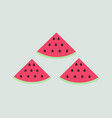 watermelons on white background vector image vector image