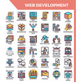 web development icons vector image
