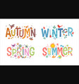 words autumn winter spring summer vector image