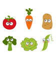 cartoon vegetable cute vector image
