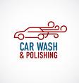Car wash and polishing logo template vector image