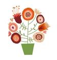 Cute cartoon flower tree vector image