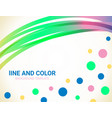abstract wavy lines and dots background vector image vector image