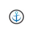 anchor symbol design vector image