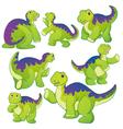 Apatosaurus green vector image