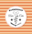 barbershop sticker label logo stamp print for vector image vector image