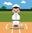 baseball field player vector image