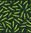 black board seamless endless pattern of green vector image vector image