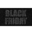 black circles black friday sale discounts vector image