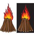 Bonfire Icon Set vector image vector image