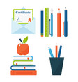 book learn literature study opened and closed vector image vector image