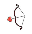 bow and arrow love romantic symbol vector image vector image