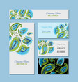 business cards design floral background vector image vector image