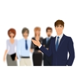 Businessman with team vector image vector image