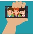 character selfie smartphone design vector image