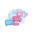 chatting via messenger app vector image