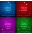 Christmas and New Year Background Star Set vector image