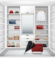 cloakroom closet vector image vector image