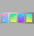 colorful placard templates set with abstract vector image vector image
