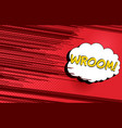 comic speed and motion template vector image