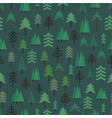 different trees seamless pattern background vector image vector image