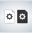 document file icon with gear settings concept vector image vector image