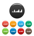equalizer tune radio icons set color vector image vector image