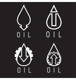 fall and rise of oil prices logo set vector image