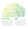 farm line template vector image vector image