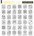 fast food outline mini concept symbols modern vector image