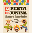 festa junina poster vector image vector image