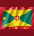 flag grenada realistic icon vector image vector image