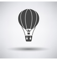 Flat design icon of hot air balloon vector image