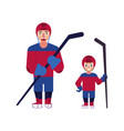 flat ice hockey player boy man isolated vector image vector image