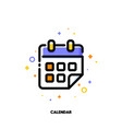 flat icon of calendar for office work concept vector image