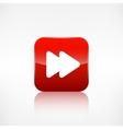 Forward or skip icon Media player vector image