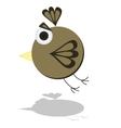Funny Flying Little Cartoon Bird vector image vector image
