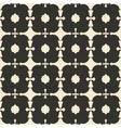 Geometric ornament seamless pattern Monochrome vector image