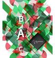 geometric shape on white vector image vector image