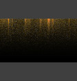 gold glitter seamless border on black background vector image vector image