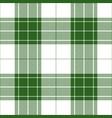 green white tartan plaid seamless pattern vector image vector image