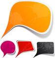 grunge speech label designs vector image vector image