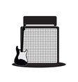 Guitar and half-stack vector image vector image