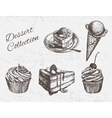 Hand drawn dessert collection vector image vector image