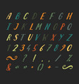 handwritten font with punctuation marks vector image
